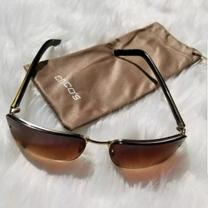 CHICO'S OMBRE BROWN SHADES SUNGLASSES CASE