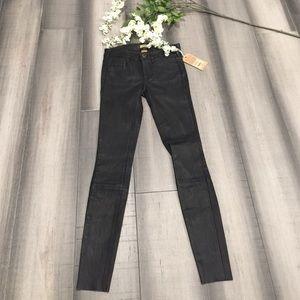 7ec014b4c0 ... NWT True Religion Hall Super Skinny Blk Leather ...