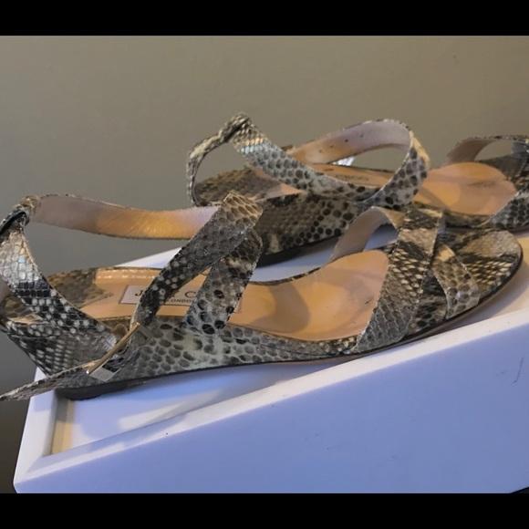 7327ebf6eea6 Jimmy Choo Shoes - Jimmy Choo Snakeskin Sandals 41 minor wear