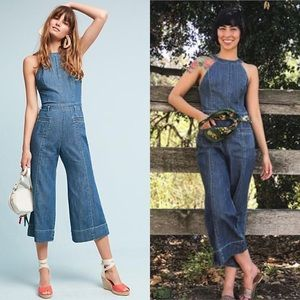 Anthropologie Pants Anthro Pilcro Femme Denim Jumpsuit
