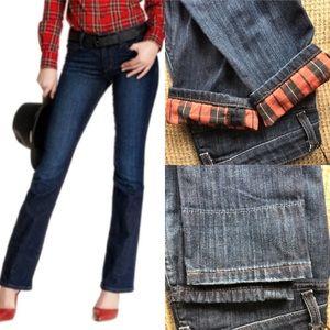 Joe's Curvy Boot Flannel Seamed Jeans! NEW!