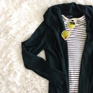 BANANA REPUBLIC dark green cinched waist cardigan