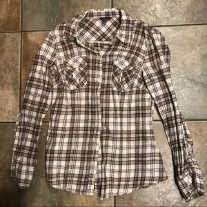 Guess Brown Flannel Button Down