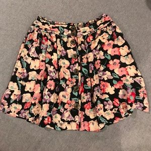 LA HEARTS button up mini skirt