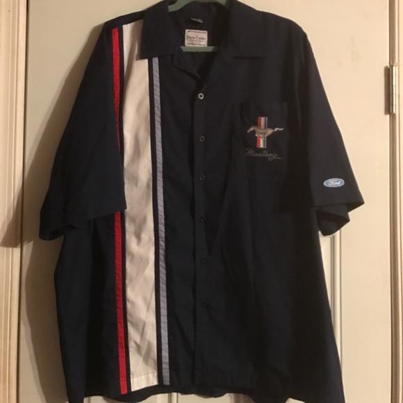 2bea79dfd3 David Carey Shirts | Ford Mustang Pit Crew Mechanic Shirt Xxl | Poshmark
