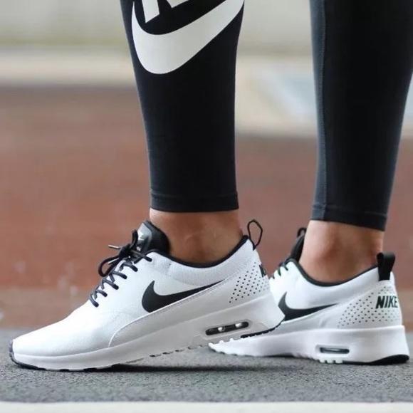 new arrival 64962 1c4e7 Women s Nike Air Max Thea White + Black Sneakers