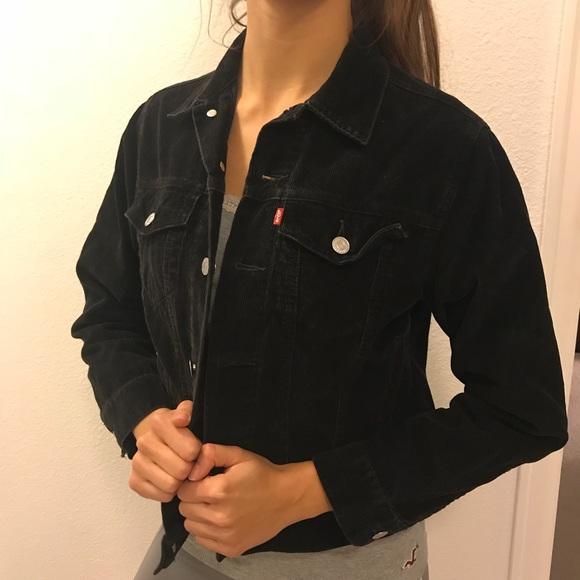 Levi S Jackets Coats Levis Womens Black Denim Trucker Jacket
