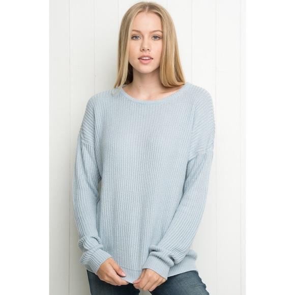 Brandy Melville Sweaters - brandy melville baby blue chunky knit sweater 3b46d7334