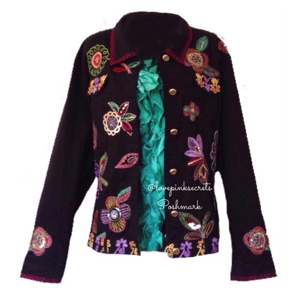 Marcus Berek Neiman Poshmark Coats Flower amp  Jacket Power Jackets w6q6vZfI ea77d39aef8