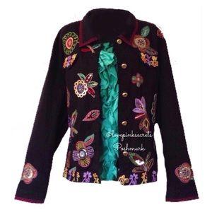 ➕Neiman Marcus Berek Flower Power Jacket