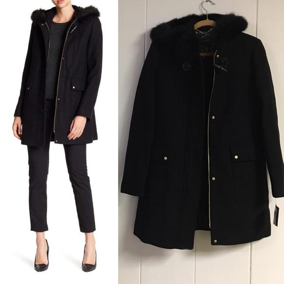 7c312f2e5c0f Ellen Tracy Jackets & Coats | Nwt Fox Fur Hooded Wool Coat | Poshmark