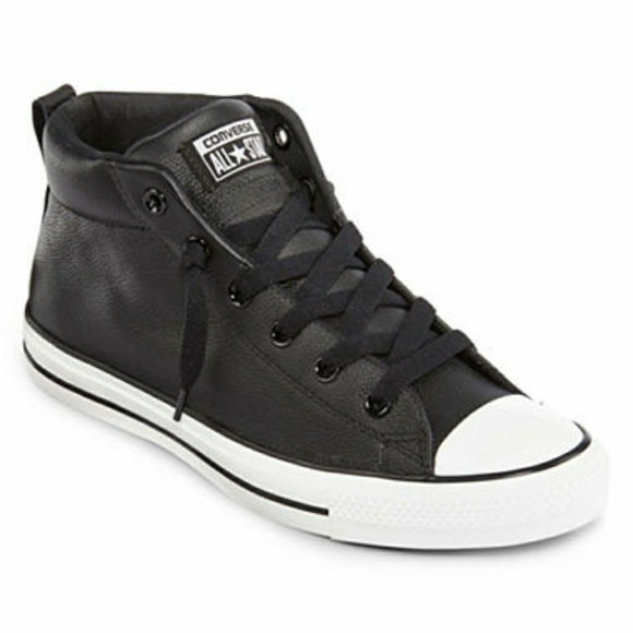 5e5a0ccb06d9 Converse Other - Men s CONVERSE mid street black leather shoes