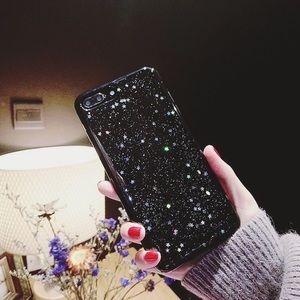 Glossy Black Sparkly iPhone 6/6s case