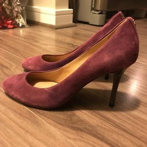 Coach Suede Purple pumps NWOT