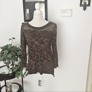 Ann Taylor Loft Brown Long Sleeve Sweater Top
