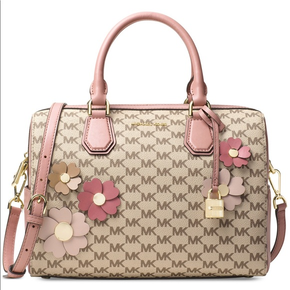 MK Mercer Appliqué Flora Medium Duffle Bag cdfc465a6e9fe