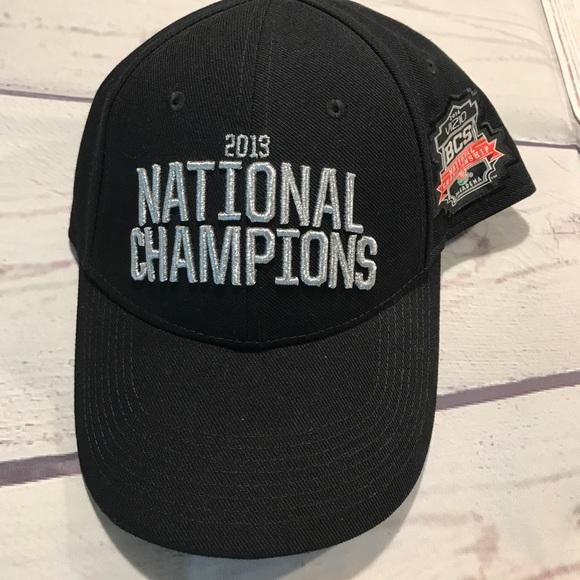 Nike FSU Nat Champs Adult Mens Black Hat Adj Cap 86ee330e513