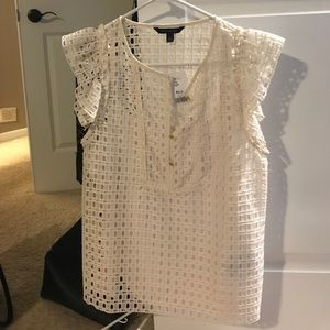 Banana republic cream top never worn with tags