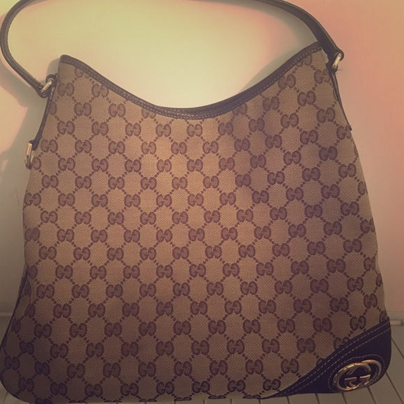 720f068da5b9 Gucci Bags | Authentic Monogram Gg New Britt Med Hobo | Poshmark