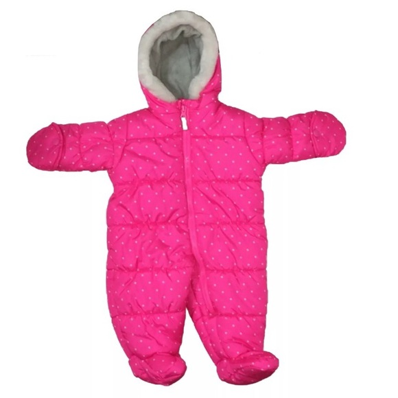 Carter S Other Nwt 72 Carters Girls Snowsuit Pink Size