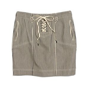 Madewell Striped Lace Up Skirt