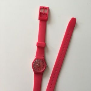 Pink Rubber Extra-Long Watch