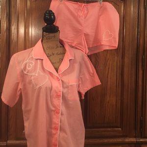 Vintage Victoria's Secret Peach Pajamas