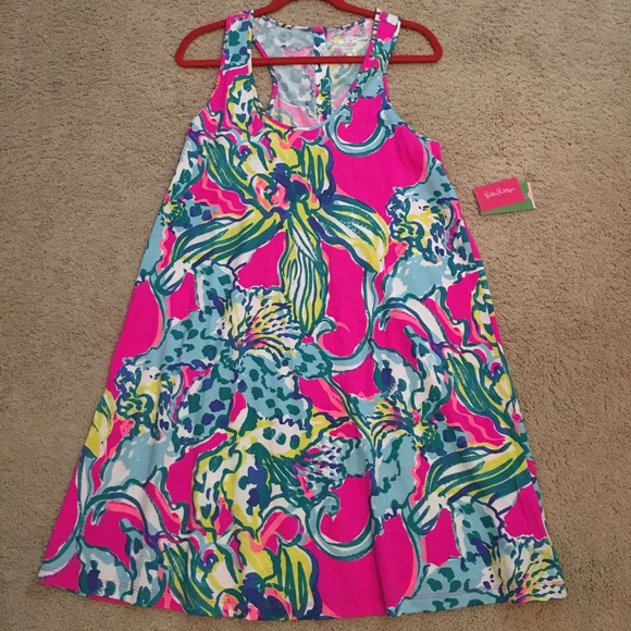 5e40062129e665 Lilly Pulitzer Dresses | Lilly Melle Dress In Magenta Hottie Nwt ...