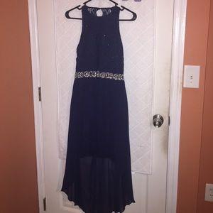 Navy Blue high low dress