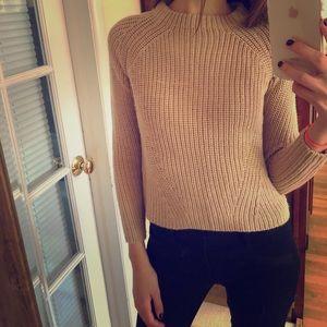 ZARA tan thick knit sweater size medium