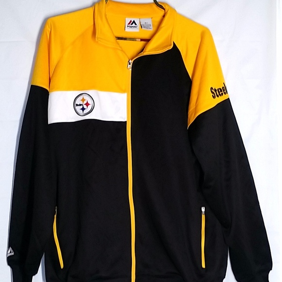 timeless design fe22d 3b5dc Pittsburgh Steelers Jacket XLT Mens Knit Zip Front