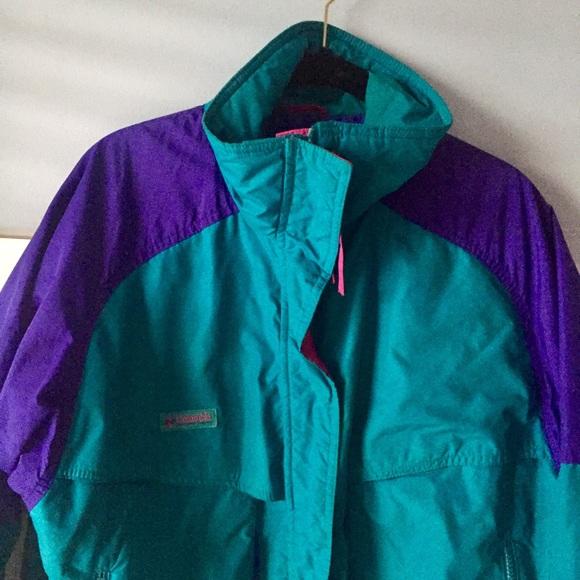 Columbia Retro Vintage color block winter jacket M