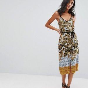 ASOS Island Floral Midi Slip Dress