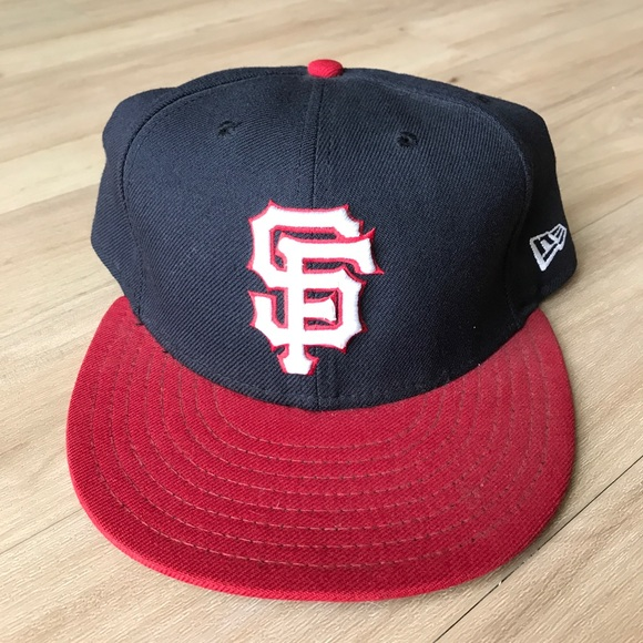 SF Giants Hat Red and Blue 7 3 4 61.5 cm 090ff2d7b654