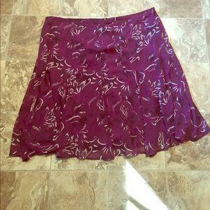Multi color below the knee skirt