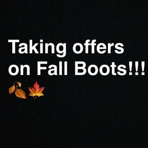 Shoes - Fall Boot Clean Out