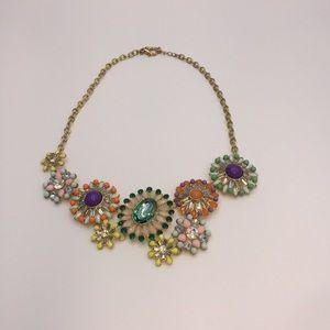 T&J gold tone flower necklace