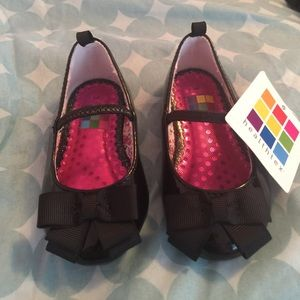 Black baby girl shoes new never used with tags