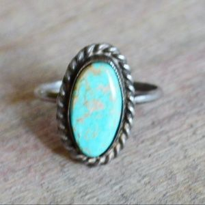 Jewelry - Sterling Silver Turquoise Southwestern Band 4.75
