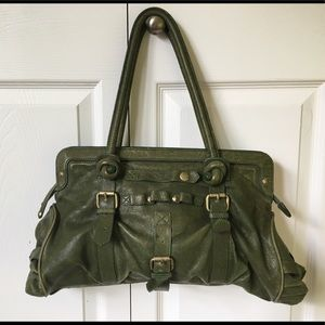 Adorable hunter green handbag
