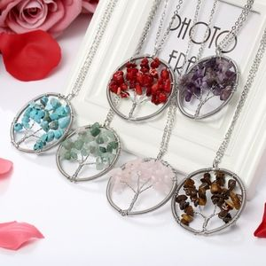 Jewelry - Red Chakra Tree Of Life Silver Necklace