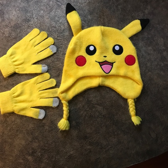 Kids Pokémon Pikachu Hat   Gloves. M 59f4b9dec6c7958f09019980 50ca17b3d1d