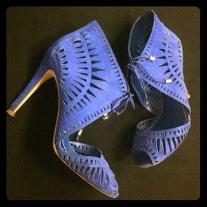 Ivanka Trump Shoes - Ivanka Trump Lacer Cut Peep Toe Heels