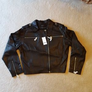 NWT  J BRAND MAISIE BLACK LEATHER MOTO JACKET
