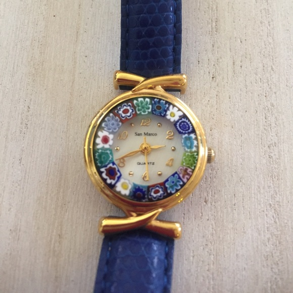 Beautiful Watch with Murano Glass Face