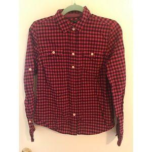 NWOT Tommy Hilfiger Striped Cotton Blouse Shirt S