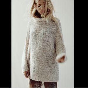 Free People Turtleneck OversizePullover Sweater XS