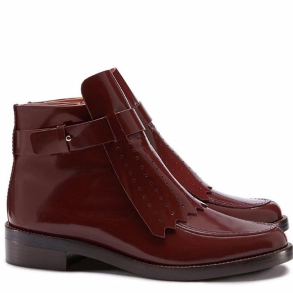 32efdd85fbea Tory Burch Size 7.5 M Hyde Burgundy Ankle Boots