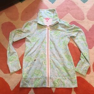 Lilly Pulitzer zip up. Size M EUC