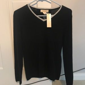 Black cashmere sweater S NWT